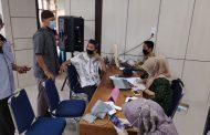 250 Guru Se-Tembilahan Hulu Ikut Vaksin Tahap I di Aula Disdik Inhil